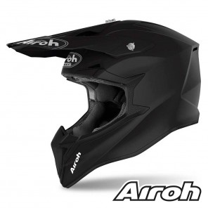 Casco Motocross Airoh WRAAP Color - Nero Opaco