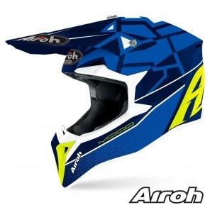 Casco Motocross Airoh WRAAP Mood - Blu