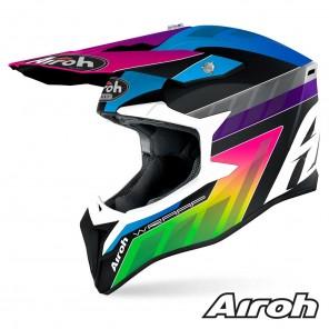 Casco Motocross Airoh WRAAP Prism - Opaco