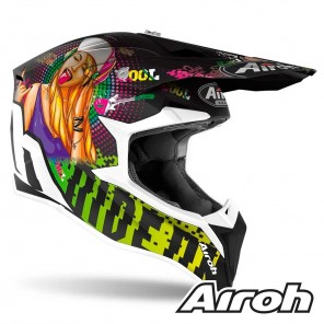 Casco Airoh WRAAP Pin-Up - Opaco