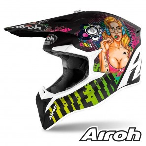 Casco Motocross Airoh WRAAP Pin-Up - Opaco
