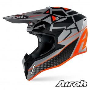 Casco Motocross Airoh WRAAP YOUTH Mood - Arancione Opaco