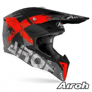 Casco Airoh WRAAP YOUTH Smile - Rosso Opaco