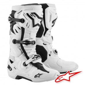 Stivali Cross Alpinestars TECH 10 SUPERVENTED - Bianco