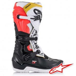 Stivali Alpinestars TECH 3 - Nero Bianco Rosso Fluo Giallo