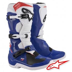 Stivali Cross Alpinestars TECH 3 - Blu Bianco Rosso