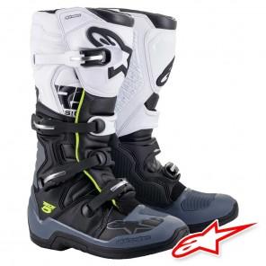 Stivali Cross Alpinestars TECH 5 - Nero Grigio Scuro Bianco