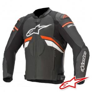 Giacca Pelle Moto Alpinestars GP PLUS R V3 - Nero Red Fluo Bianco