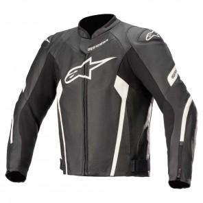 Giacca Pelle Moto Alpinestars FASTER V2 AIRFLOW - Nero Bianco