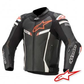 Giacca Pelle Moto Alpinestars GP PRO V2 TECH-AIR™ Airbag - Nero Bianco Rosso Fluo