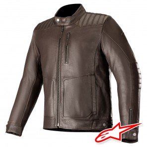 Giacca Pelle Alpinestars CRAZY EIGHT - Marrone Tabacco