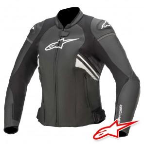 Giacca Pelle Donna Alpinestars STELLA GP PLUS R V3 - Nero Bianco