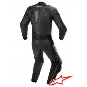 Tuta Pelle Alpinestars GP PLUS V3 GRAPHITE - Nero