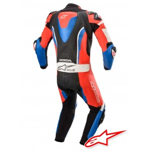 Tuta Pelle Alpinestars HONDA GP PRO V3 TECH-AIR™ Airbag Compatibile - Nero Rosso Blu