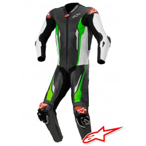 Tuta Alpinestars RACING ABSOLUTE TECH-AIR™ Airbag - Nero Bianco Verde Fluo