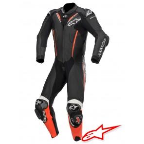 Tuta Racing Alpinestars ATEM V3 - Nero Rosso Fluo Bianco