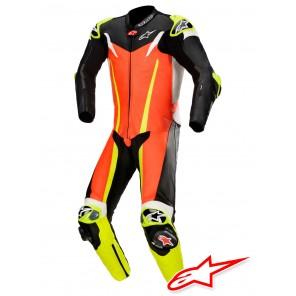 Tuta Racing Alpinestars GP TECH V3 TECH-AIR™ Airbag - Rosso Fluo Nero Giallo Fluo