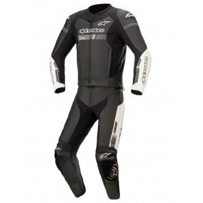Tuta Pelle Divisibile da Moto Alpinestars GP FORCE CHASER 2pc - Nero Bianco