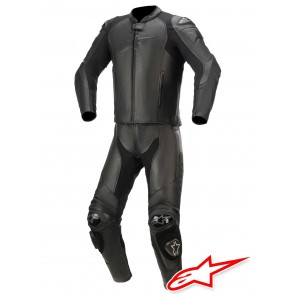 Tuta Divisibile Pelle Alpinestars GP PLUS V3 GRAPHITE - Nero