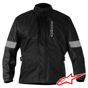 Giacca Antipioggia Moto Alpinestars HURRICANE - Nero