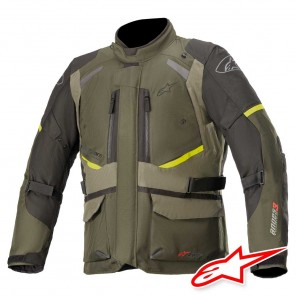 Giacca Moto Alpinestars ANDES V3 DRYSTAR - Forest Military Green