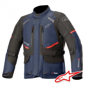 Giacca Moto Alpinestars ANDES V3 DRYSTAR - Blu Scuro Nero