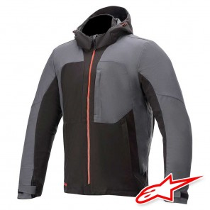 Giacca Moto Alpinestars STRATOS V2 TECHSHELL DRYSTAR - Nero Asfalto Rosso