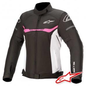 Giacca Moto Donna Alpinestars STELLA T-SP S WATERPROOF - Nero Bianco Fucsia