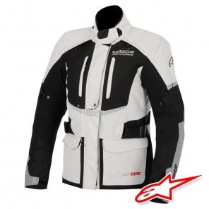 Giacca Moto Donna Alpinestars STELLA ANDES DRYSTAR - Grigio Chiaro Nero