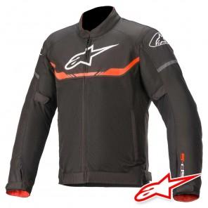 Giacca Moto Alpinestars T-SPS AIR - Nero Rosso Fluo
