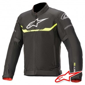Giacca Moto Alpinestars T-SPS AIR - Nero Giallo Fluo