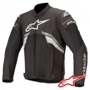 Giacca Moto Alpinestars T-GP PLUS R V3 AIR - Nero Grigio Scuro Bianco
