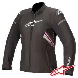 Giacca Moto Donna Alpinestars STELLA T-GP PLUS R V3 - Nero Bianco Fucsia
