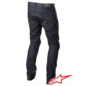 Pantaloni Alpinestars HONDA COPPER Denim - Blu Scuro Rosso