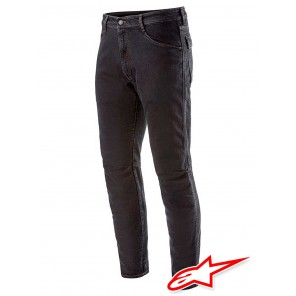 Jeans Moto Alpinestars ALU Denim - Black Overdyed