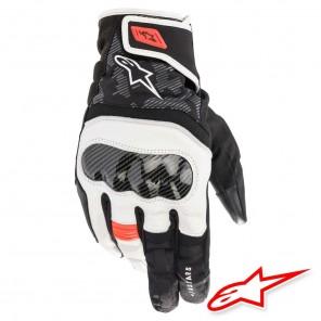 Guanti Moto Alpinestars SMX Z DRYSTAR - Nero Bianco Rosso Fluo
