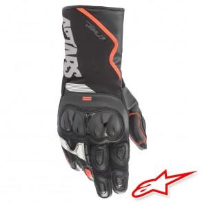 Guanti Moto Alpinestars SP-365 DRYSTAR - Nero Rosso Fluo Bianco