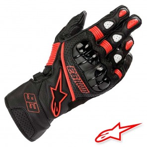 Guanti Moto Pelle Alpinestars MM93 TWIN RING - Nero Rosso