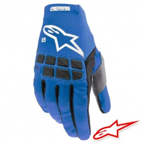 Guanti Cross Alpinestars RACEFEND - Blu Bianco