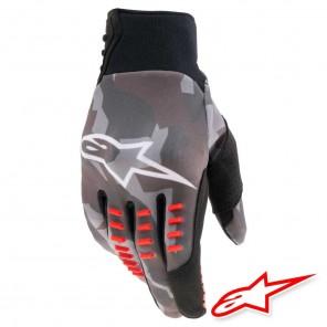 Guanti Cross Alpinestars SMX-E - Grigio Camo Rosso Fluo
