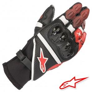 Guanti Pelle Alpinestars GP X V2 - Nero Bianco Rosso Luminoso