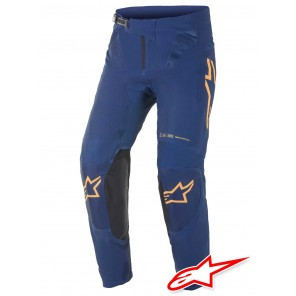 Pantaloni Cross Alpinestars SUPERTECH FOSTER - Blu Navy Arancione