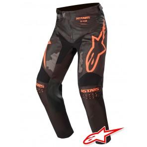 Pantaloni Cross Alpinestars RACER TACTICAL - Nero Grigio Camo Arancione Fluo