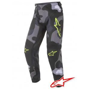 Pantaloni Cross Alpinestars RACER TACTICAL - Grigio Camo Giallo Fluo