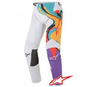 Pantaloni Cross Alpinestars RACER FLAGSHIP - Bianco Sporco Multicolor
