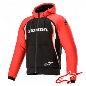 Giacca Moto Alpinestars HONDA CHROME SPORT Hoodie - Rosso Nero