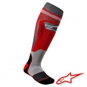 Calze Moto Alpinestars MX PLUS-1 - Rosso Grigio Freddo