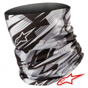 Collare Moto Alpinestars BLURRED Neck Tube - Nero Antracite