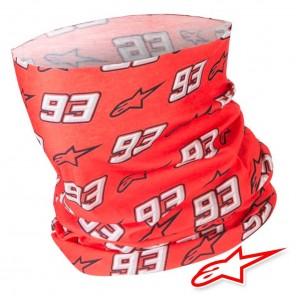 Scaldacollo Moto Alpinestars MM93 Neck Tube - Rosso Bianco Nero