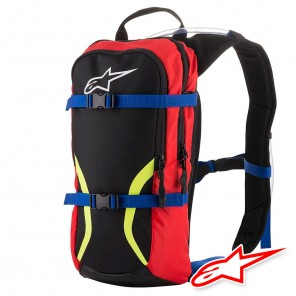 Zaino Alpinestars IGUANA Hydration Backpack - Nero Blu Rosso Giallo Fluo